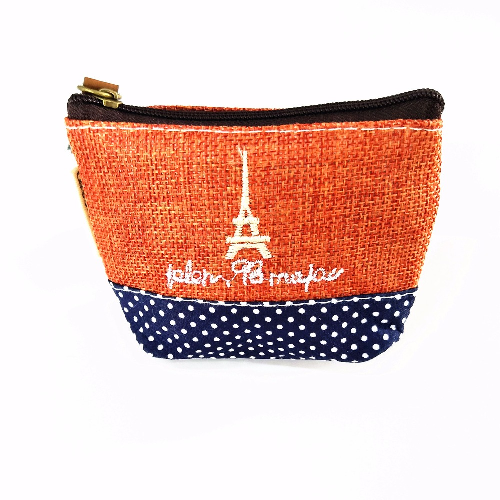 M116 Cute  Rural Style Coin Bag Cotton And Linen Time Creative Canvas Small Change Purse Girl  Women Student Gift Wholesale