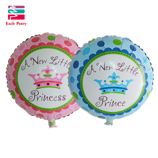 Festa A New Little Princess Baby Shower Prince Crown Foil Balloons