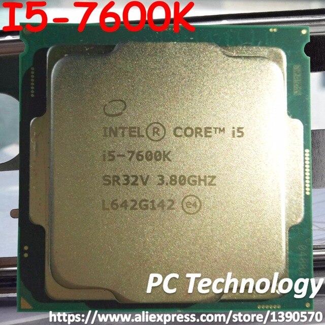 Oryginalny procesor intel core i5-7600K czterordzeniowy 3.80GHz 6MB pamięci podręcznej i5 7600K LGA1151 CPU darmowa wysyłka