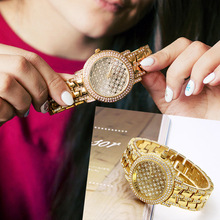 New arrival High grade watches top quality fast shipping large metal quartz big gold watch women best gift for wife