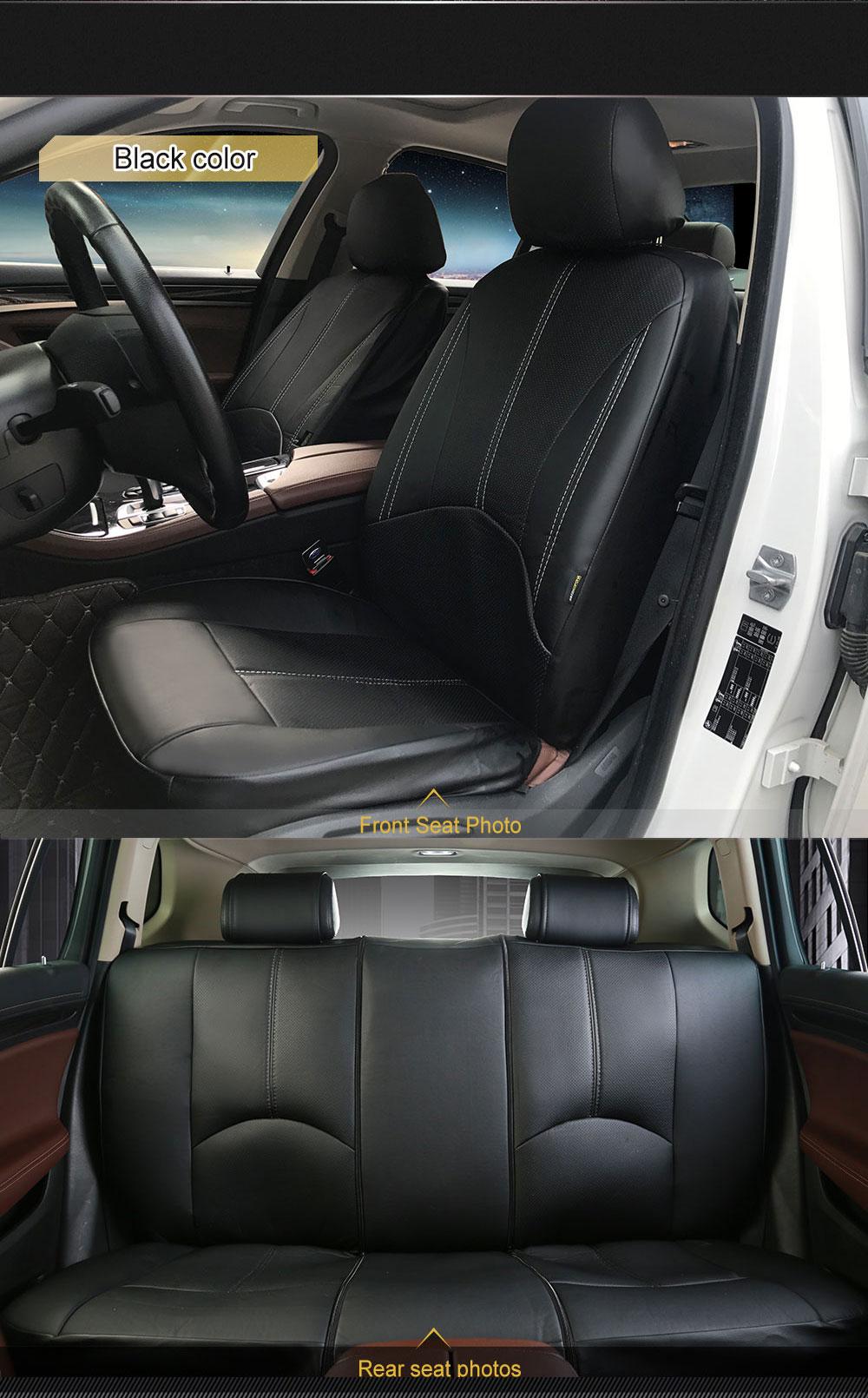 Pu Leather Universal Auto Car Seat Covers Anti Slip Seat Covers Front Back Seat Protectors For Car Lada Honda Kia Rio 3 Seat