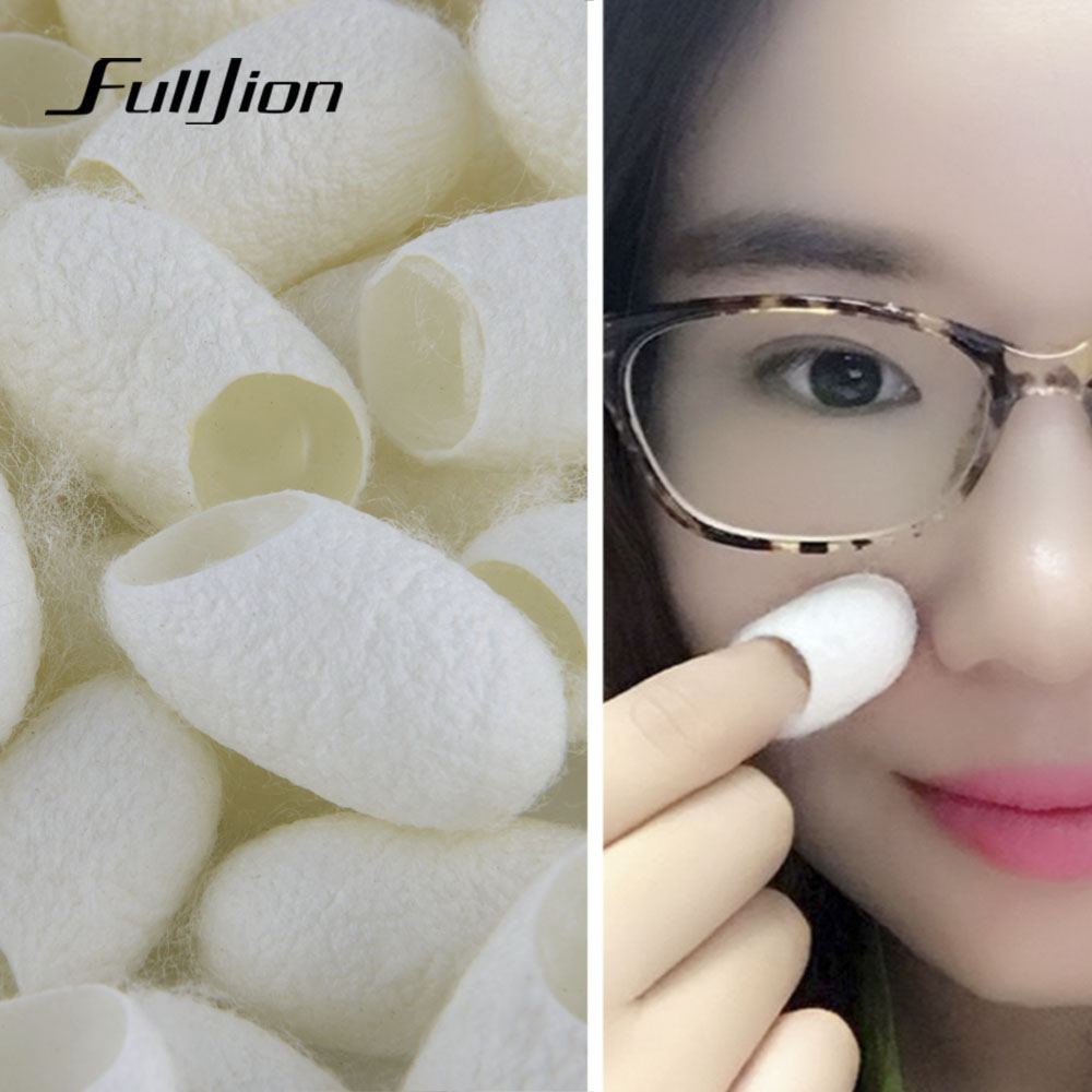 Fulljion 10Pc Natural Silkworm Balls Purifying Whitening Exfoliating Scrub Blackhead Acne Remover Silk Cocoons Facial Skin Care