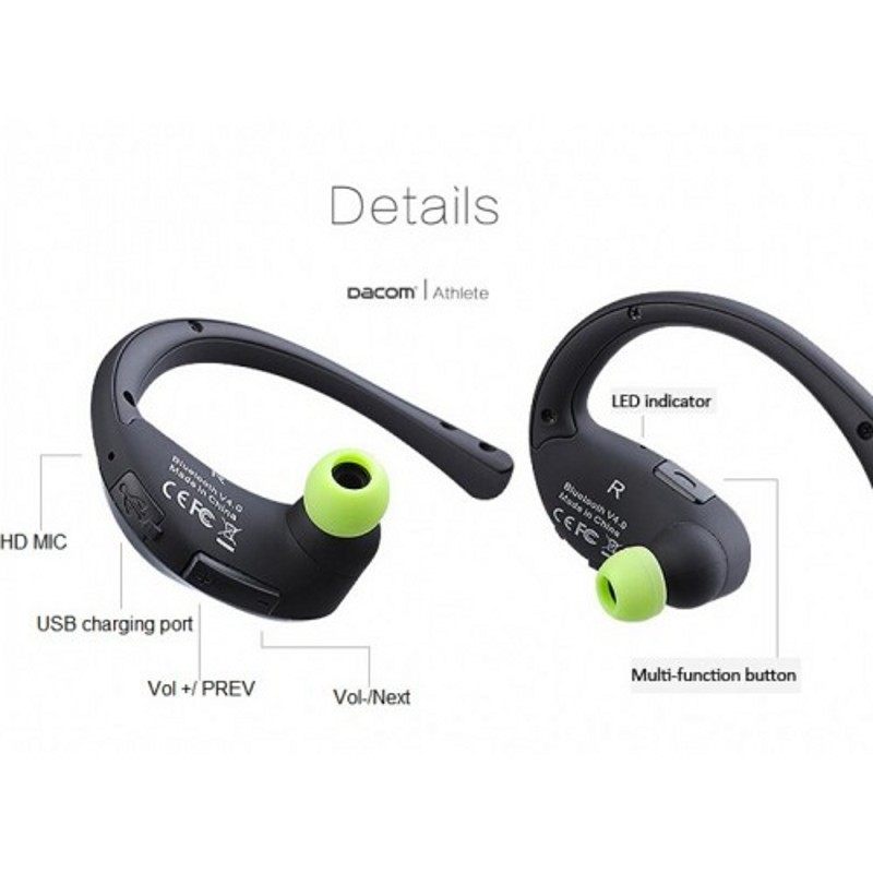 Dacom Athlete Bluetooth Earphone Wireless Sport Headphone Stereo Music  Headset Handsfree Mobile Phone Earbuds For iPhone Samsung-in Bluetooth  Earphones ... e9d929547b