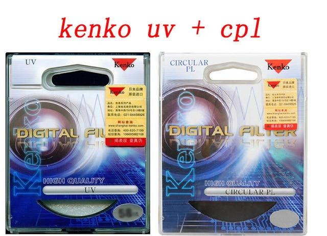 77mm Kenko UV Ultra-Violet Filter + Circular Polarizer CPL Digital Filtre kit  for Nikon canon 17-50 sony pentax 77 mm lens