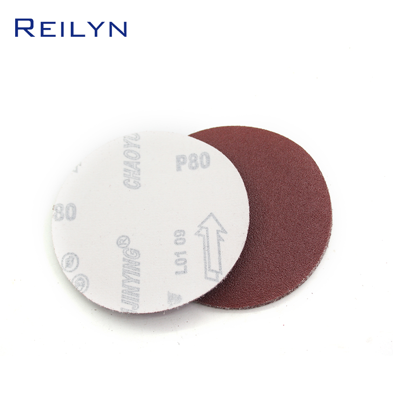 5 Inch Flocking Sandpaper Red Polishing Hand Grinding Wheel Accessories High Quality High Wear Resistance Emery Sandpaper