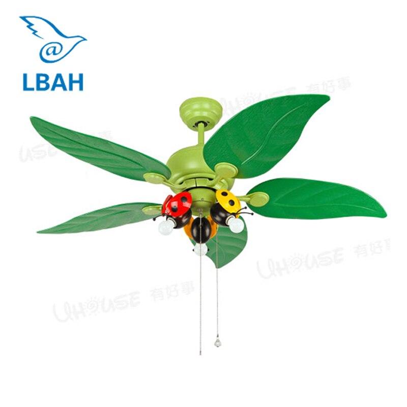 LBAH LED plafonnier étude lumières ventilateur Maternelle est décoré fan droplight chambre Enfants chambre lampes et lanternes