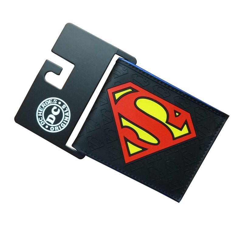 DC Comics Superman Purse carteira PVC Card Holder Bags Cartoon Anime Super Hero Men Wallets Dollar Price Fashion Short Wallet hot cartoon anime purse carteira masculina dragon ball z sun wukong wallet dollar price men women card holder gift kids wallet