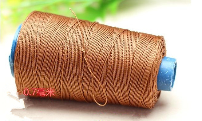 0.7mm x 300m nylon cord stretch strong waxed thread Leather craft sewing bookbinding fishing sole line free shipping 3 colors