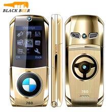 Mosthink W760 자동차 모양 플립 휴대 전화 소형 2G GSM 휴대 전화 듀얼 SIM 카드 노인 전화 러시아어 키보드 저렴한