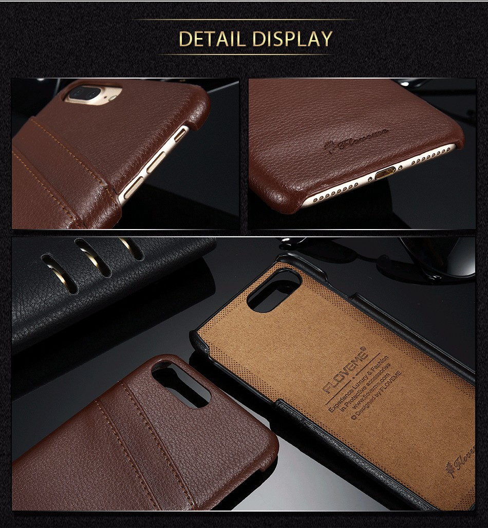 genuine leather card slot case for iPhone 6 6s Plus 7 7 Plus (14)
