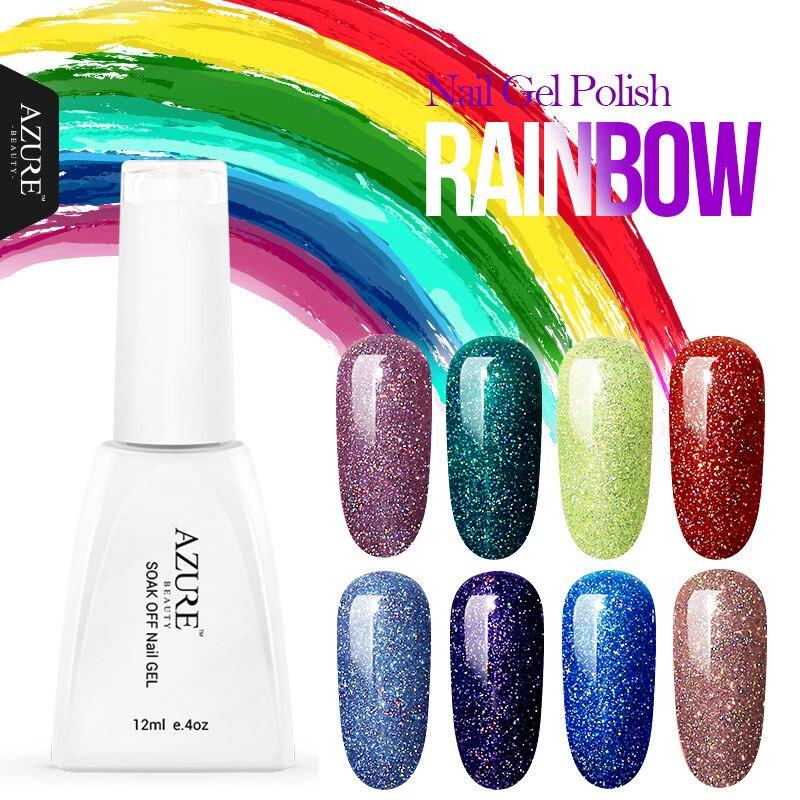 Azure Beauty 12ML Neon Colorful Gel Nail Polish Led Gelpolish DIY Nail Art Varnish Long Lasting Soak Off Gel Nail Lacquer mild s peelable nail polish 12ml blue