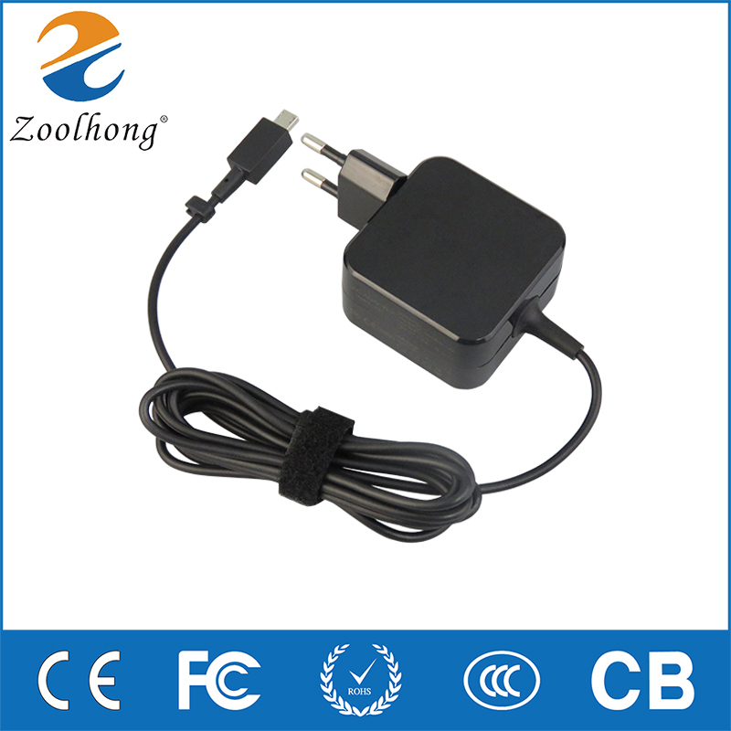 for ASUS EU Plug X205T X205TA 11.6-inch notebook new invented factory outlet <font><b>19V</b></font> 1.75A 33W AC laptop power <font><b>adapter</b></font> charger image