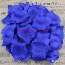 Королевский Синий Сапфир цвет шелковые лепестки роз для свадьбы банкета украшения для стола 40 цветов