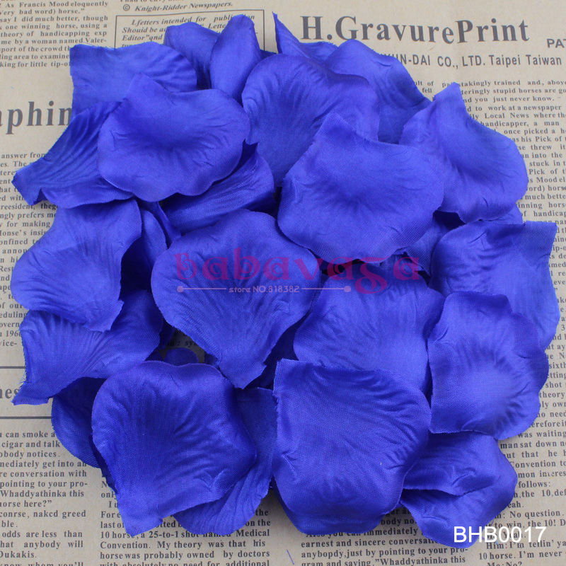 Us 5 5 Royal Blue Sapphire Color Silk Flower Rose Petals Wedding Banquet Adornment Favor Table Decorations 40 Colors In Rose Petals From Weddings