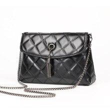 Frauen Plaid Kleine Schwarze Tasche kette Messenger Bags Quilted Flap frauen Handtaschen Crossbody Taschen TRB194