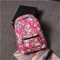 Venda quente Retro Rosa Floral Impressão Mochila de Viagem Da Lona das Mulheres Mochila para Meninas Adolescentes Mochila de Alta Qualidade Sacos de Escola