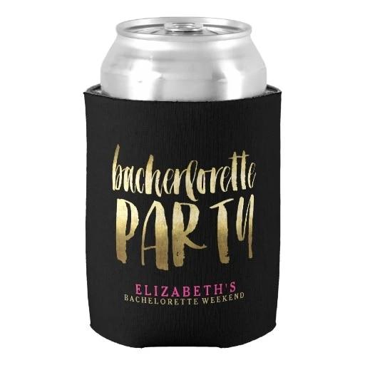 Personalized Beer Hugger Drink Insulator Custom Can Cooler