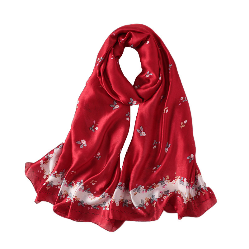 luxury summer Simulation silk scarves women scarf fashion quality soft Foulard female shawls Beach cover-ups wraps silk bandana