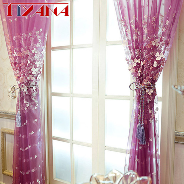 Modern new luxury sheer curtains embossed flower white curtains for modern new luxury sheer curtains embossed flower white curtains for living room purple voile drapes for mightylinksfo