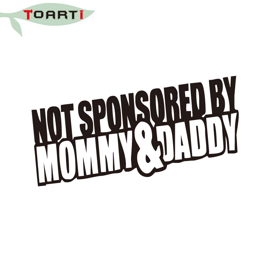 2914cm not sponsored by mommy and daddy car window bumper sticker vinyl truck decals car styling accessories in car stickers from automobiles motorcycles