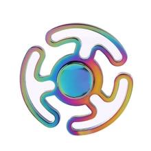 Rainbow Maze Spinner Fidget Spinner Alloy Hand Spinner 818 Steel Bearing Educational Toys Spinner Hand Anti Stress Toy