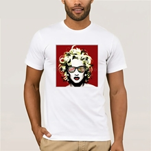 Marilyn Pop Monroe T-Shirt  Summer style cotton custom 2019 latest popular mens casual T-shirt