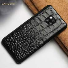 Genuine Leather phone case for Huawei mate 20 pro Lite P30 P20 Pro Lite Cover For Honor 8X 8A 8C 9X 10 V20 20 Pro Armor(China)