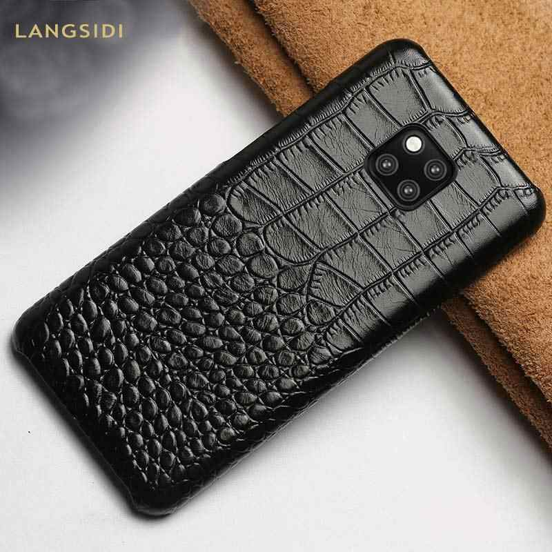 Genuine phone case Couro para Huawei companheiro 20 pro Lite P30 P20 Pro Lite Tampa Para Honra 8X 8A 8C 9X10 V20 20 Pró Armadura