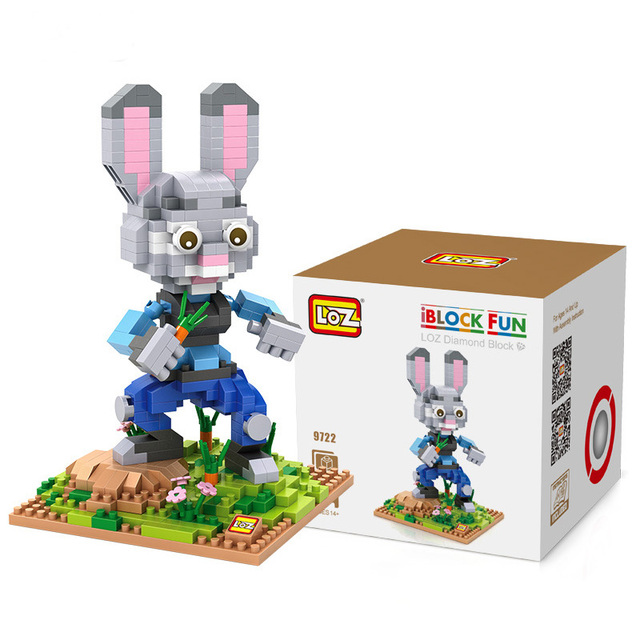 fec9fd9ca4803 Zootopia Nick Judy Building Blocks Action Figure Educational Kids Children  Toys brinquedos juguetes menino Jouet enfant