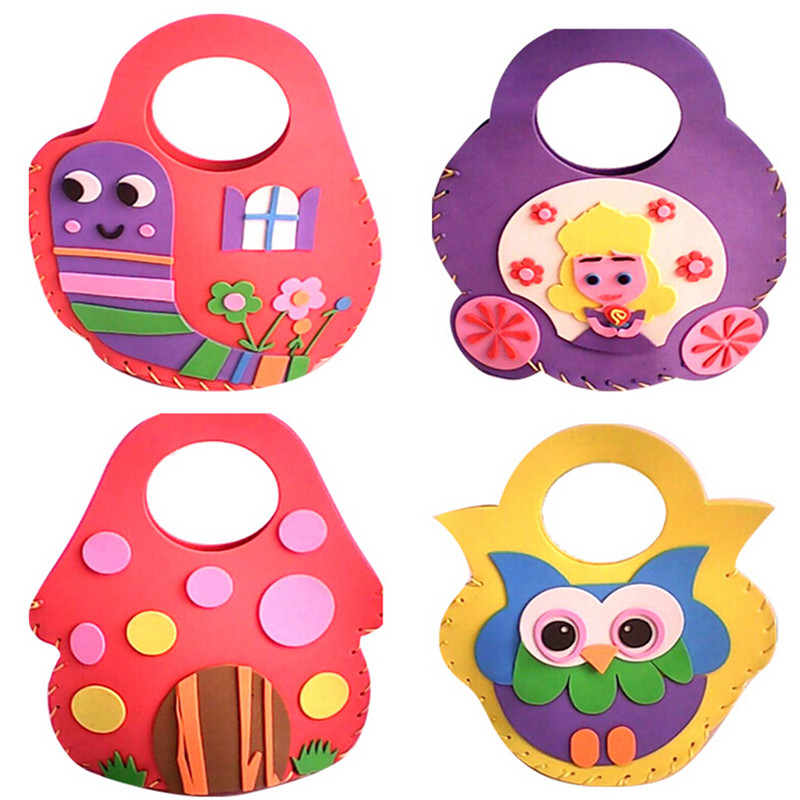 5pcs lot EVA sewing DIY handmade bags of children s educational toys kindergarten material stickers package