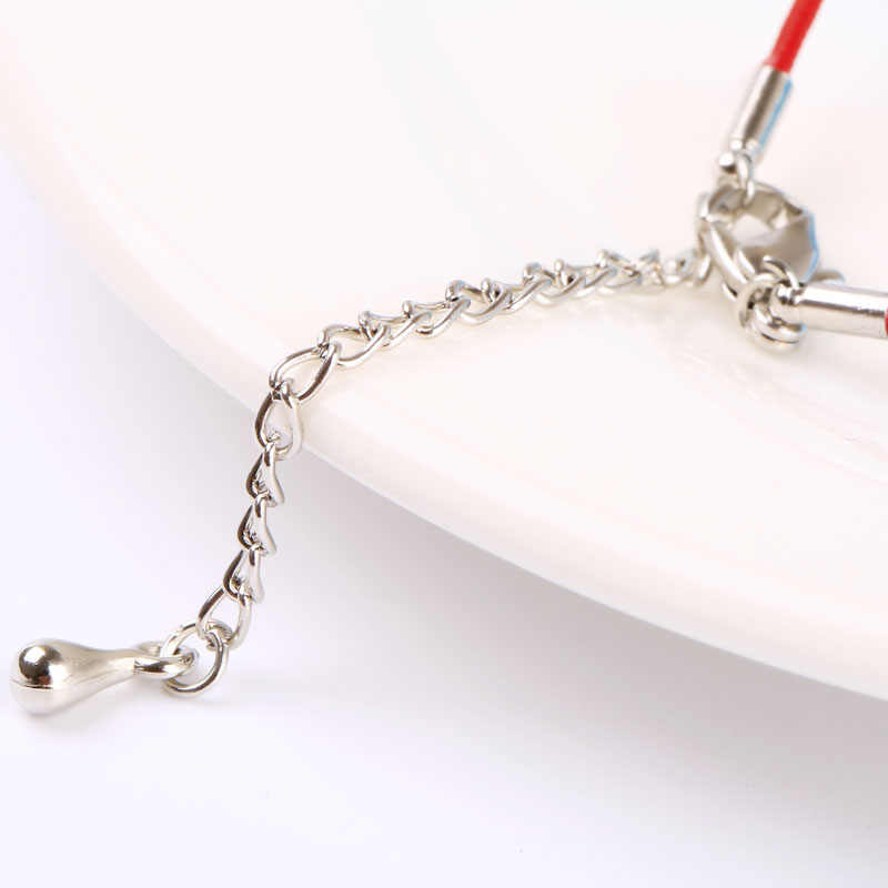 Carsinelトレンディスリヴァーメッキczブレスレットで薄い赤のスレッドstringロープチェーン用女性ジュエリー卸売BR0091