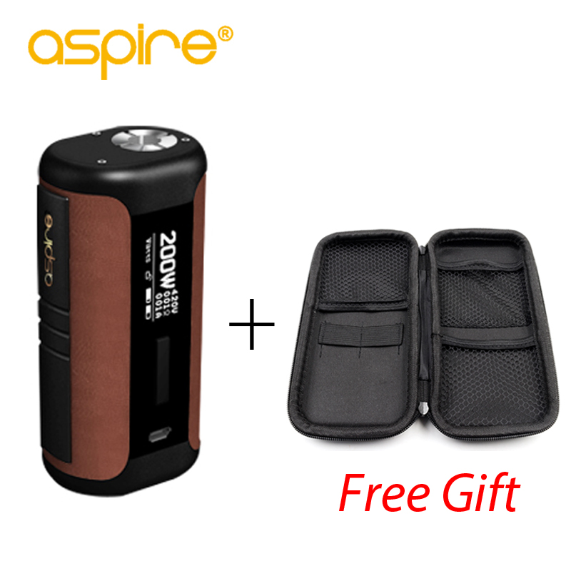 Original Aspire Speeder Mod 200W Vape Electronic Cigarette Vape Regulated Mod Fits Revvo Tank Powered by 18650 Battery Box Mod
