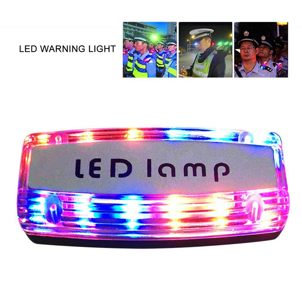 Işıklar ve Aydınlatma'ten Özel Aydınlatma'de Şarj edilebilir LED omuz ışık kırmızı ve mavi Strobe omuz klip tipi uyarı lambası devriye güvenlik sinyal ışığı