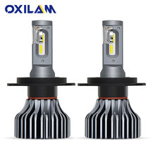 OXILAM LED H7 Fanless Car Headlight Bulbs LED 9000LM H11 H8 9006/HB4 9005/HB3 9012 9007 H4 High Low Beam Auto Lights Fog Lamp(China)