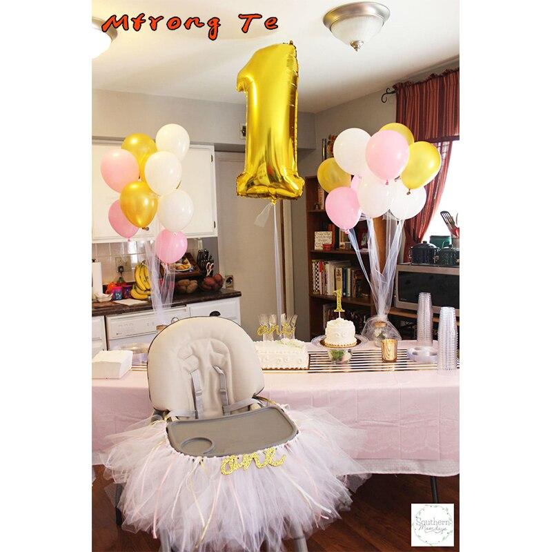 19pcs/lot 1st Birthday Decoration Baby Boy Girl Birthday ...