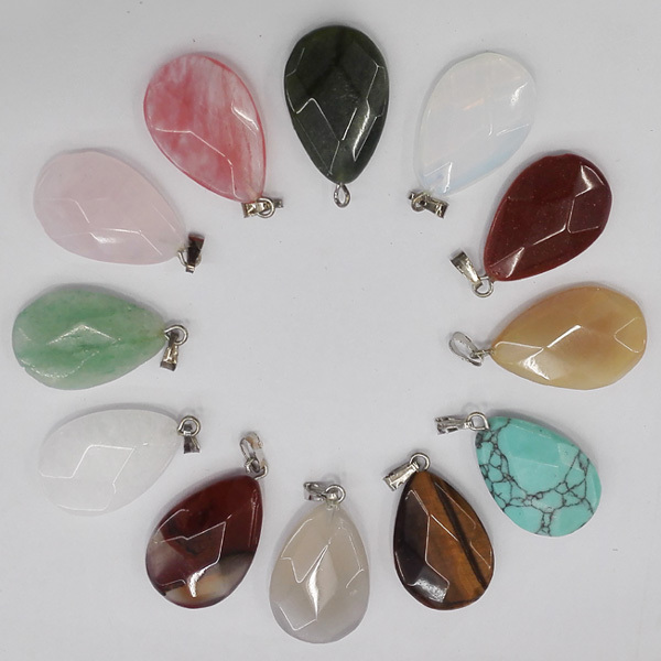 Free shipping wholesale 12pcs natural stone pendants water drop free shipping wholesale 12pcs natural stone pendants water drop rhombus pendant opal charms for necklaces jewelry mozeypictures Gallery