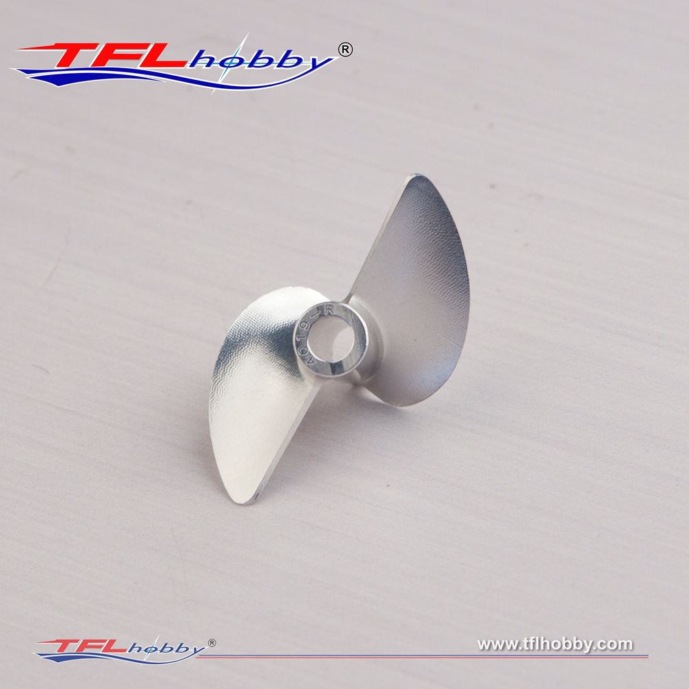 Image 4 - TFL Genuine Parts! 2 Blade G Series  CNC 1.9 Thread pitch  Hole Dia  3.18mm/4.0mm Aluminium Propeller for RC boatParts & Accessories   -