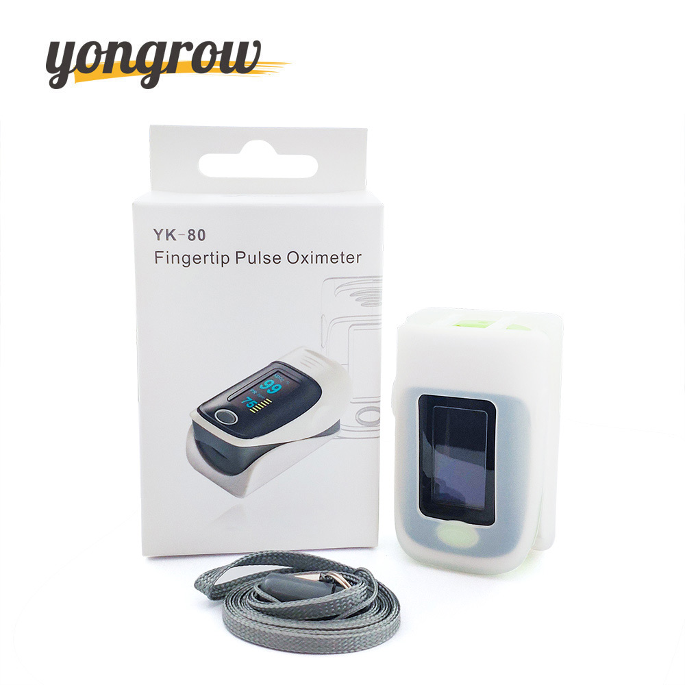 Yongrow Medical Pulse Oximeter Fingertip Pulse Oximeter and Silicone protective cover Blood Oxygen Saturation Meter SPO2 PR CE oled pulse finger fingertip oximeter blood spo2 pr heart rate monitor