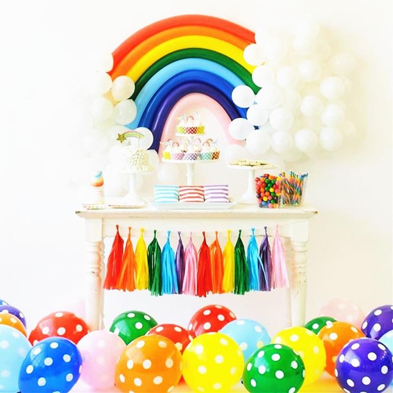 35pcs/set Latex Rainbow Balloon Decoration Wedding Valentine's Day Kids Birthday Party Decoration Supplies DIY Magic Long Ballon