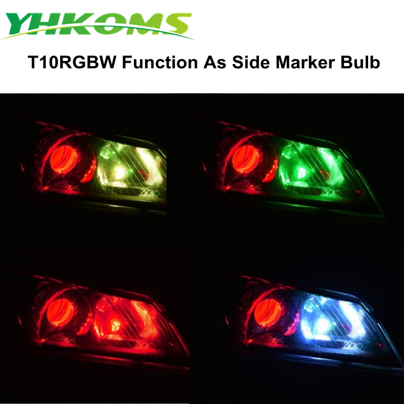YHKOMS σούπερ φωτεινό T10 W5W LED RGB - Φώτα αυτοκινήτων - Φωτογραφία 3