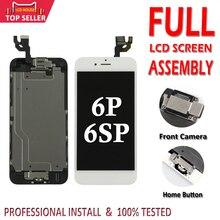 مجموعة AAA لشاشات الكريستال السائل الكاملة لهاتف iPhone 6 6S Plus محول رقمي لشاشات LCD تعمل باللمس تم الانتهاء من تجميع شاشة عرض بديل للكاميرا زر المنزل