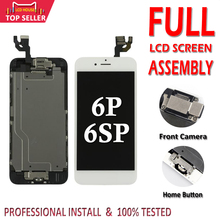 AAA tam LCD meclisi için iPhone 6 6S artı LCD dokunmatik Digitizer tamamlanan montaj ekranı yedek ekran kamera ev düğmesi