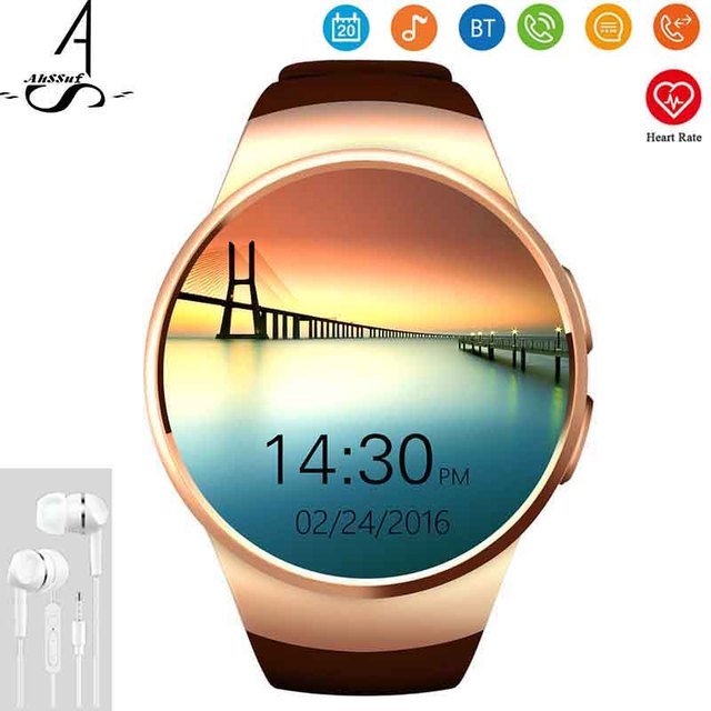 AhSSuf Smart Watch SIM Card TF Relogio Heart Rate Monitor Consumer Electronics Sport Watch Touch KW18 Compatible for IOS Android