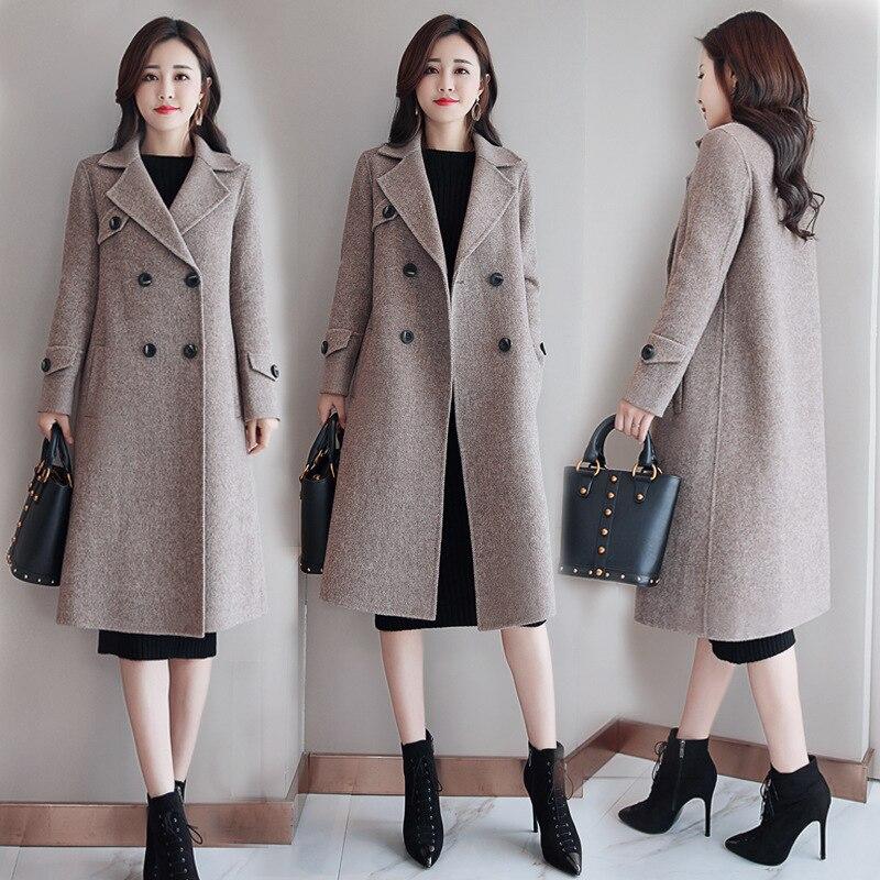 cdd317bc0740 Vêtements Nouvelles Mode Couleur Manteau Revers 2 Loisirs Lâche Femmes Fit Harajuku  Veste Slim Solide Laine ...