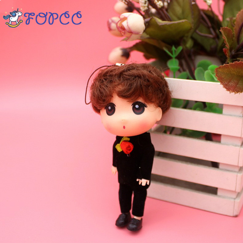 Creative 18cm12cm men silly cute cartoon dolls of boys and girls wedding originality small gifts key pendants car pendants