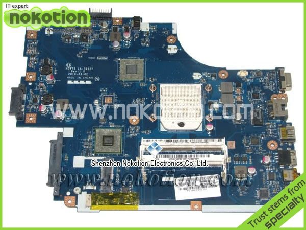 LA-5912P Laptop motherboard for acer TM 5542 5542G MBTZG02001 CARTE MERE AMD SOCKET S1 DDR3 MB. BL002.001