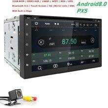 HD 800*480 dello schermo OctaCore 4G RAM + 32G ROM 2DIN universal car radio gps Android8.0 con wifi car stereo audio AUTO LETTORE DVD NAVI