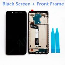 جديد 2160x1080 شاشة عرض LCD تجميع إطار LCD ل Xiaomi Redmi Note 5 غطاء بطارية الهاتف استبدال أجزاء