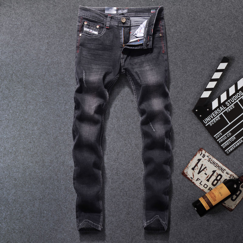 2019 Fashion Men Jeans Straight Fit Leisure Quality Cotton Biker Jeans Denim Skinny Jeans Men,Original Dsel Brand Jeans,707-B