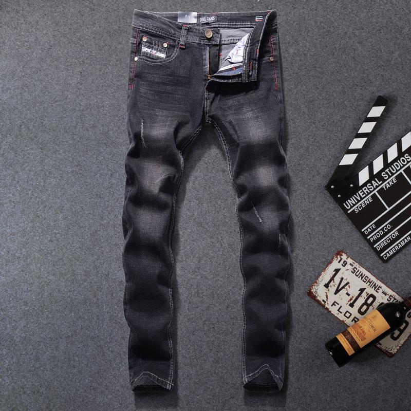 Brilliant sun Mens Jeans Casual Slim Straight Jeans Denim Pants Trousers